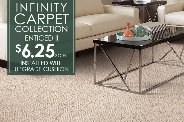 Infinity Collection Enticed II $6.25 sq.ft. Installed with upgraded cushion